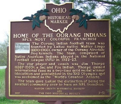 Home of the Oorang Indians Marker image. Click for full size.