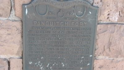 Panguitch Fort Marker image. Click for full size.