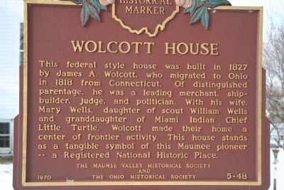 Wolcott House Marker image. Click for full size.