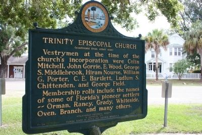 Trinity Episcopal Church Marker Reverse image. Click for full size.