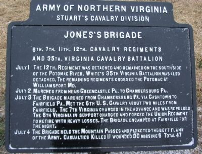 Jones's Brigade Tablet image. Click for full size.