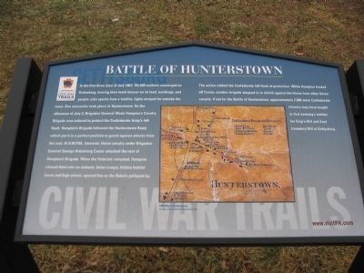 Battle of Hunterstown Marker image. Click for full size.