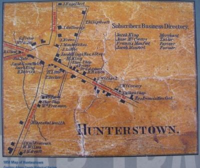 1858 Map of Hunterstown image. Click for full size.