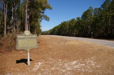 Skirmish at Cow Creek Marker image. Click for full size.