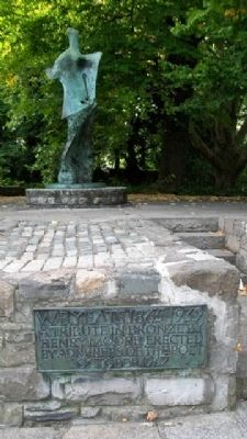 William Butler Yeats Monument image. Click for full size.