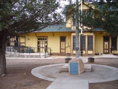 Patagonia Depot and Marker image. Click for full size.