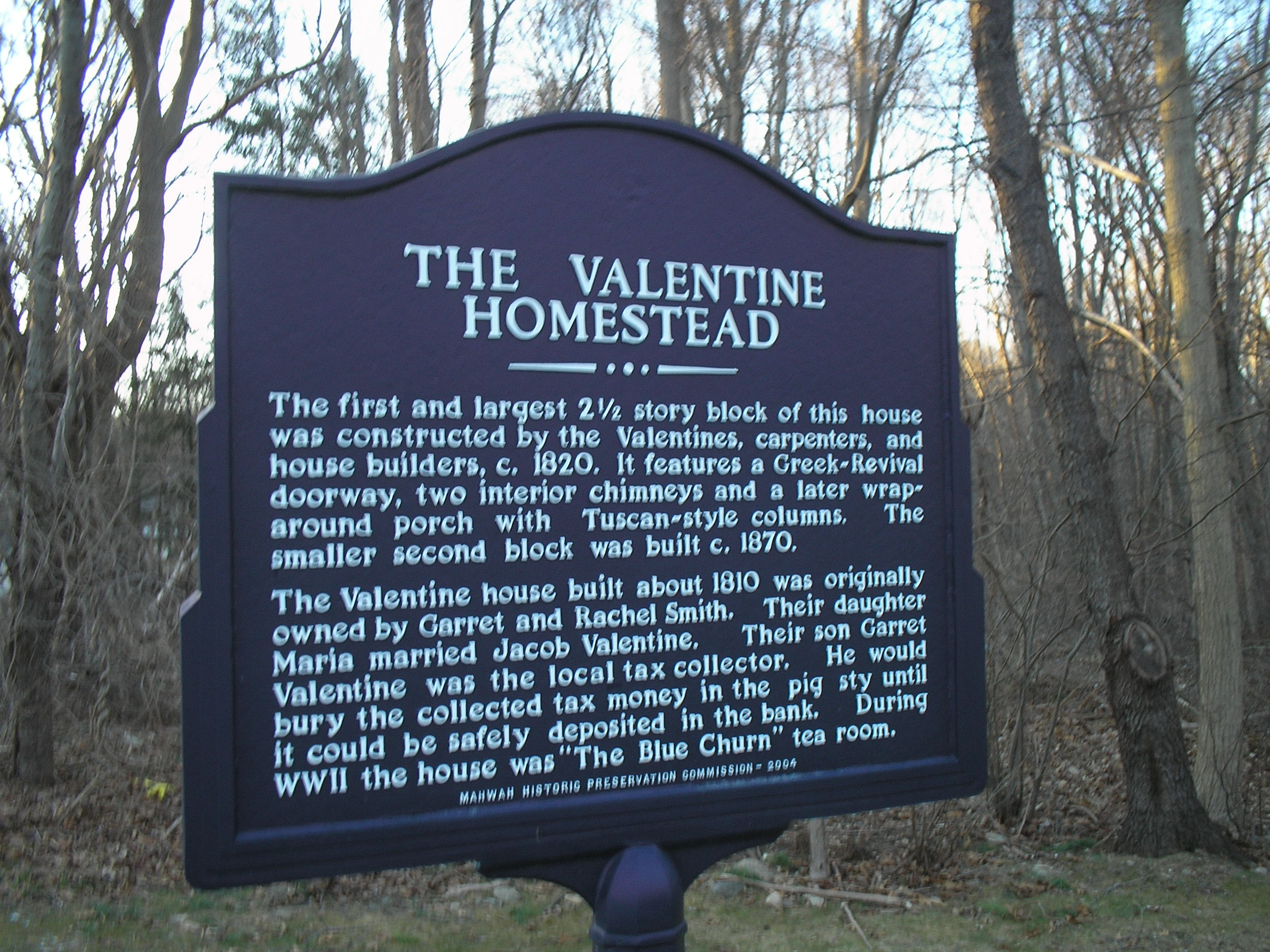 The Valentine Homestead Marker