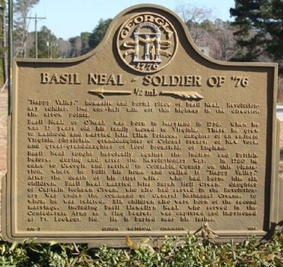 Basil Neal - Soldier of '76 Marker image. Click for full size.