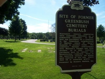 Site of Former Greenbush Cemetery Burials Marker image. Click for full size.