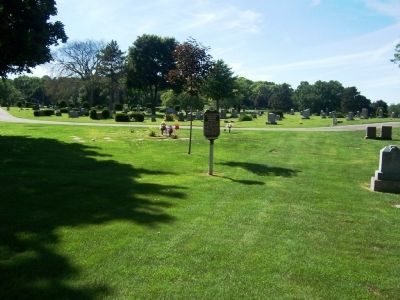 Site of Site of Former Greenbush Cemetery Burials Marker image. Click for full size.