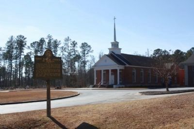 First Baptist Church in Georgia and Marker image. Click for full size.