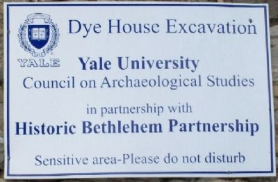 Dye House Excavation Marker image. Click for full size.
