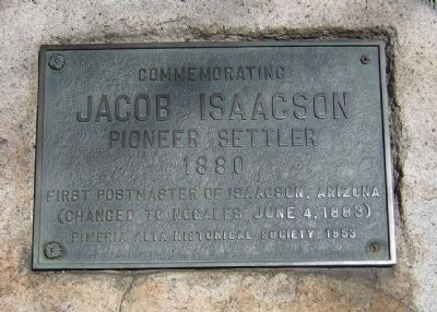 Commemorating Jacob Isaacson Marker image. Click for full size.