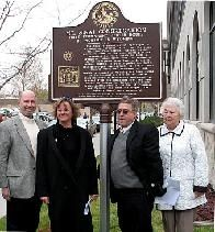 Mt. Sinai Congregation marker dedication image. Click for full size.