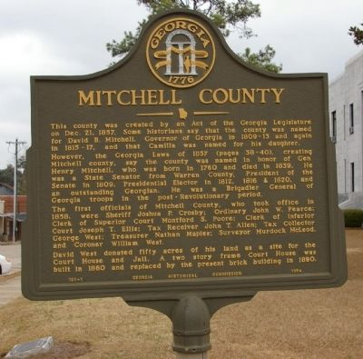Mitchell County Marker image. Click for full size.