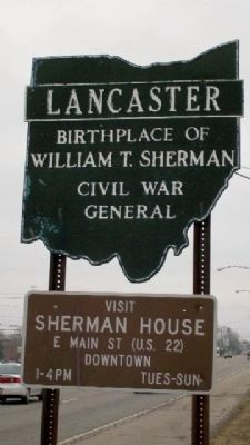 Lancaster Corporate Limit Sign image. Click for full size.