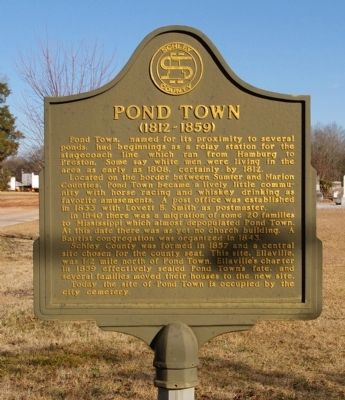 Pond Town Marker image. Click for full size.