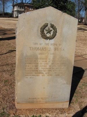 Site of the home of Thomas J. Rusk Marker image. Click for full size.