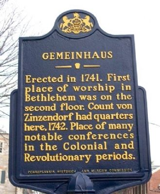 Gemeinhaus Marker image. Click for full size.