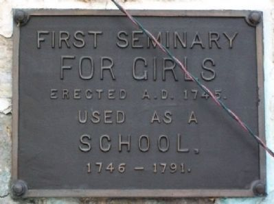 First Seminary for Girls Marker image. Click for full size.