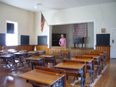 Interior of Tubac School House image. Click for full size.