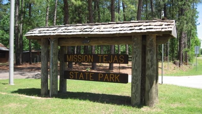 Mission Tejas State Park entrance image. Click for full size.