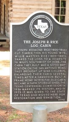 The Joseph R. Rice Log Cabin Marker image. Click for full size.