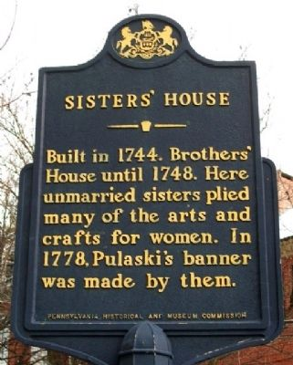 Sisters' House Marker image. Click for full size.
