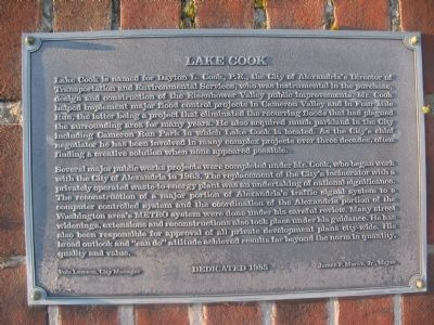 Lake Cook Marker image. Click for full size.