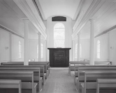 Black Mingo Baptist Church - Interior image. Click for full size.