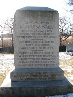 Andrew Ward Memorial Marker image. Click for full size.