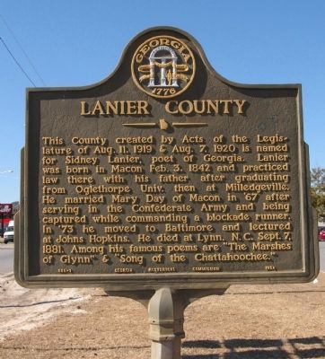 Lanier County Marker image. Click for full size.