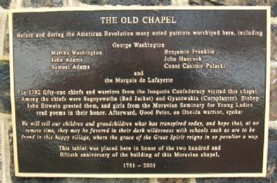 The Old Chapel Marker image. Click for full size.