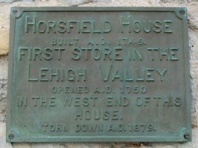 Horsfield House Marker image. Click for full size.