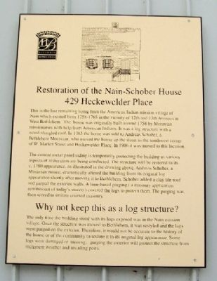Restoration of the Nain-Schober House Marker image. Click for full size.