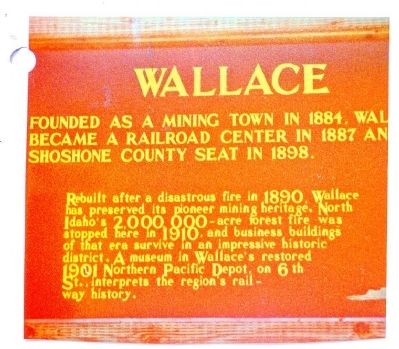 Wallace Marker image. Click for full size.