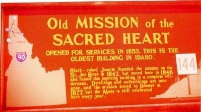Old Mission of the Sacred Heart Marker image. Click for full size.