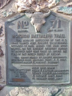 Mormon Battalion Trail Marker image. Click for full size.