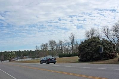 First Land Granted in Calhoun County Area Marker, (r) looking southward along Old Number 6 Highway image. Click for full size.