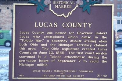 Lucas County Marker image. Click for full size.