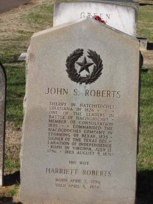 John S. Roberts Marker image. Click for full size.