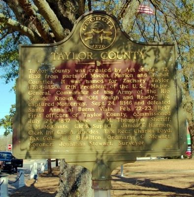 Taylor County Marker image. Click for full size.