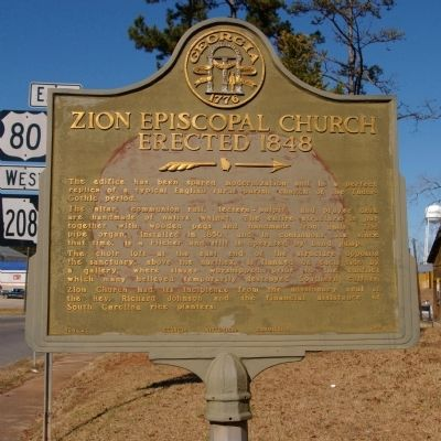 Zion Episcopal Church Marker image. Click for full size.