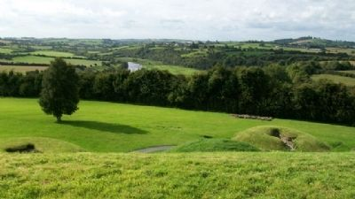 View of Boyne River Valley From Top of Knowth Great Mound image. Click for full size.