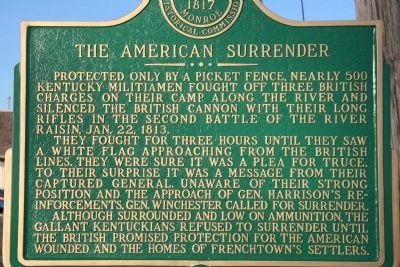 The American Surrender Marker image. Click for full size.