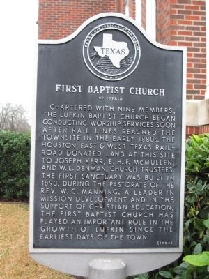 First Baptist Church of Lufkin Marker image. Click for full size.