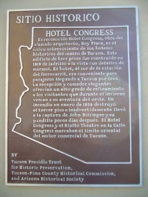 Hotel Congress Marker image. Click for full size.
