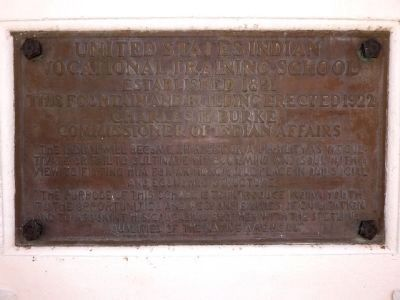 United States Indian Vocational Training School Plaque image. Click for full size.