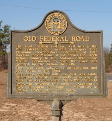 Old Federal Road Marker image. Click for full size.