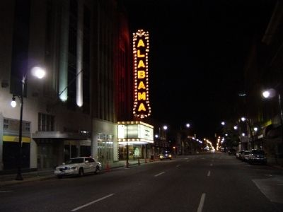 Night View Of The Alabama Theatre's Sign and Marquee image. Click for full size.